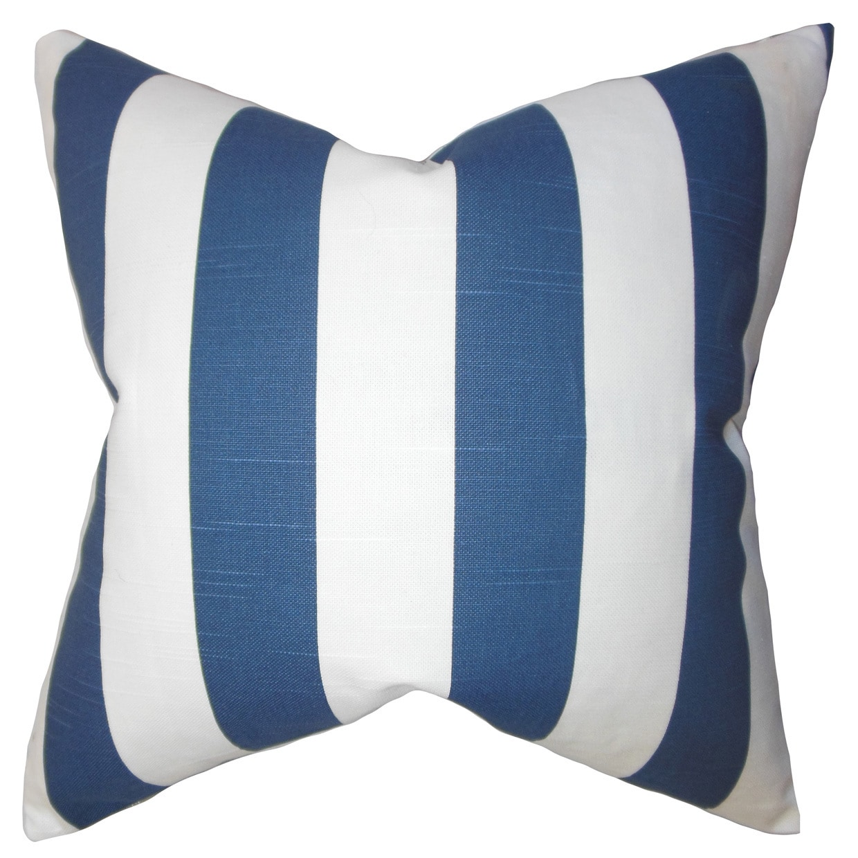 The Pillow Collection Ilaam Stripes Bedding Sham Blue King//20 x 36