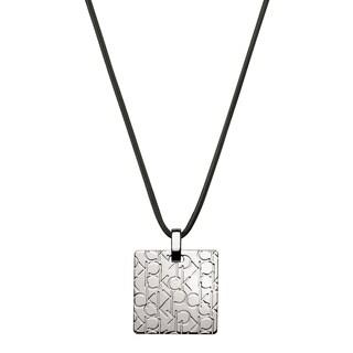 Calvin Klein Logo Stainless Steel and Satin Women's Fashion Necklace