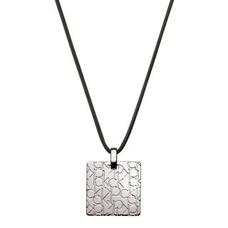 Calvin Klein Logo Stainless Steel and Satin Women's Fashion Necklace