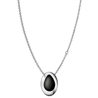 Calvin Klein Resource Stainless Steel and Black Wood Women's Fashion Necklace