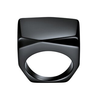 Calvin Klein Women's Onyx Square Fashion Ring - Black