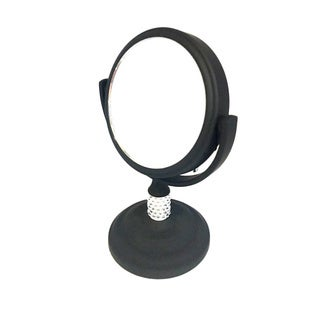 Mini Soft Touch Mirror with Crystals