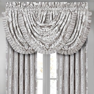 Five Queens Court Carly Woven Waterfall Valance with Pleats (As Is Item)