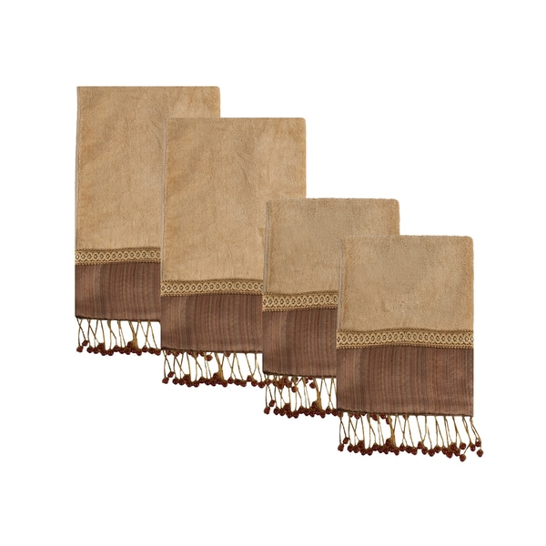 Sherry Kline Juliet Beads 4-piece Embellished Decorative Towel Set