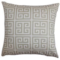 Paros Greek Key Euro Sham Gray White