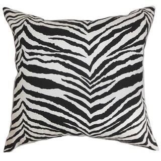 Cecania Zebra Print Euro Sham Black White
