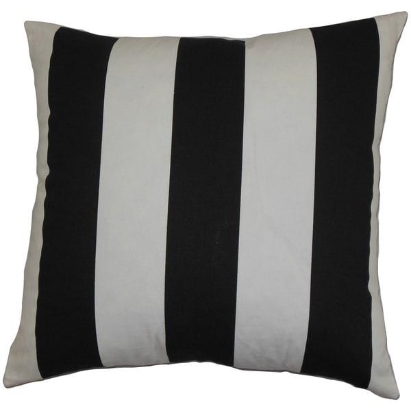 Leesburg Stripes Euro Sham Black White