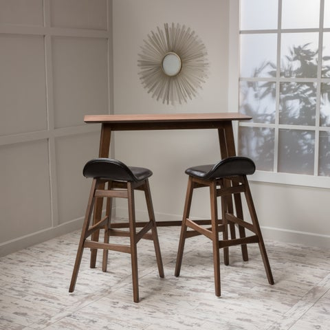 Carson Carrington Viborg Wood Bar Stool and Table Set