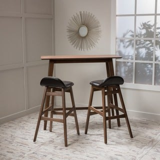 Christopher Knight Home Moria Wood Bar Stool and Table Set
