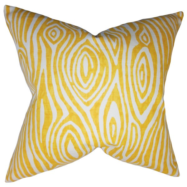Thirza Swirls Euro Sham Yellow