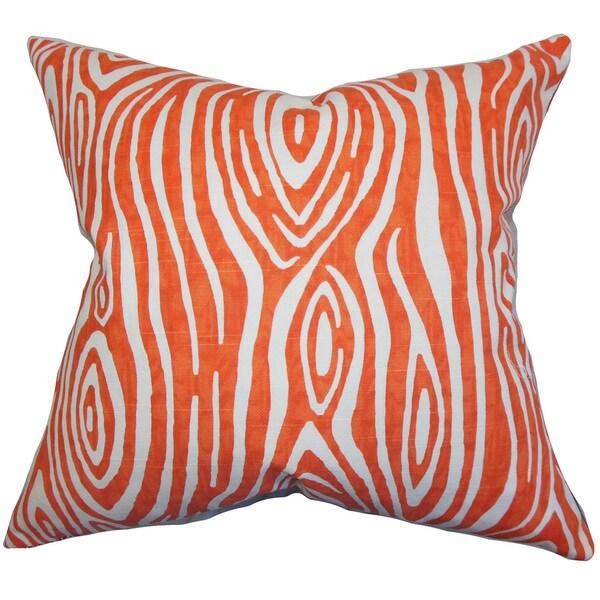 Thirza Swirls Euro Sham Tangerine
