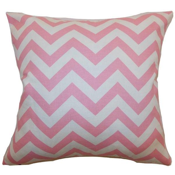 Xayabury Zigzag Euro Sham Baby Pink