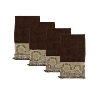 Sherry Kline Encircle Brown Hand Velcro Embellished Towel (set of 4)