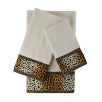 Sherry Kline Panthera Ecru 3-piece Embellished Towel Set