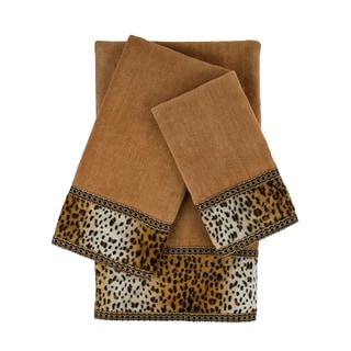 Sherry Kline Panthera Nugget 3-piece Embellished Towel Set