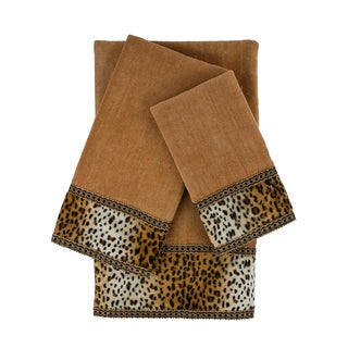 Sherry Kline Panthera Nugget 3-piece Embellished Towel Set