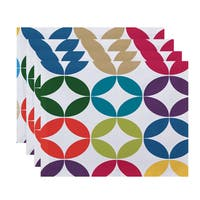 E by Design Eye Opener Geometric Print Placemat (Set of 4)
