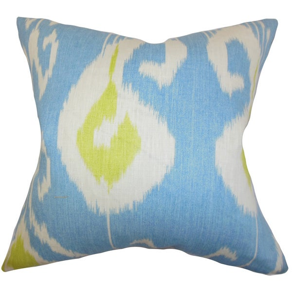 Cleon Ikat Euro Sham Blue