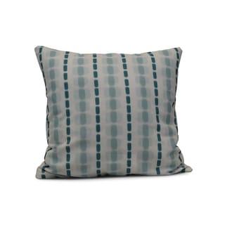 E by Design 26-inch Watercolor Stripe Stripe Print Pillow (Teal)