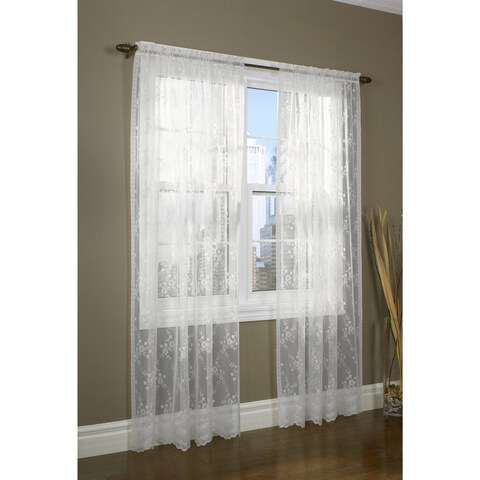 Mona Lisa Lace Window Curtain Panel