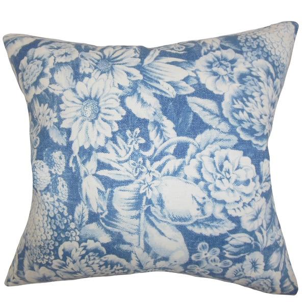 Elspeth Floral Euro Sham Blue
