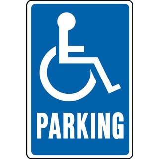 Hy-Ko HW-13 Handicap Parking Aluminum Highway Sign