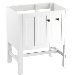 KOHLER Tresham 29-3/4 in. x 18-1/4 in. x 32-1/2 in. Vanity Cabinet in Linen White