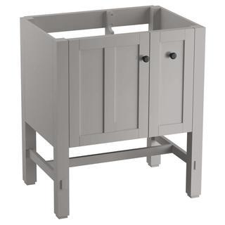 KOHLER Tresham 29-3/4 in. x 18-1/4 in. x 32-1/2 in. Vanity Cabinet in Mohair Grey