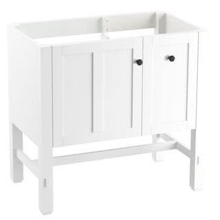 KOHLER Tresham 35-3/4 in. x 18-1/4 in. x 32-1/2 in. Vanity Cabinet in Linen White