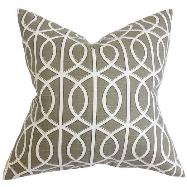 Lior Geometric Euro Sham Brown White
