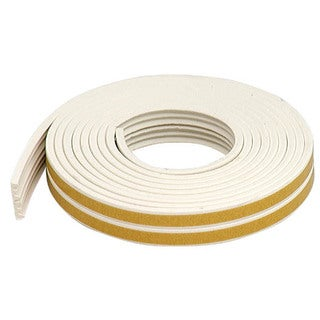 M-D 02618 17' White Extreme Temperature K Profile Weather Strip