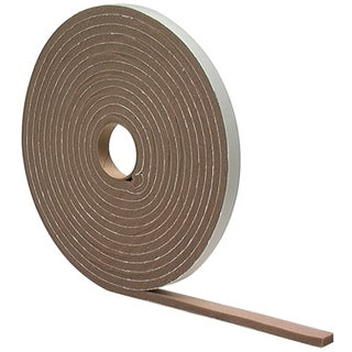 "M-D 02790 3/16"" X 17' Br Waterproof & Airtight Foam Tape Weather Strip"