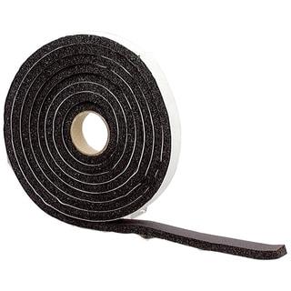 M-D 43155 10' Black High Density Sponge Rubber Foam Weatherstrip Tape