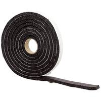 M-D 43155 10' Black High Density Sponge Rubber Foam Weatherstrip Tape