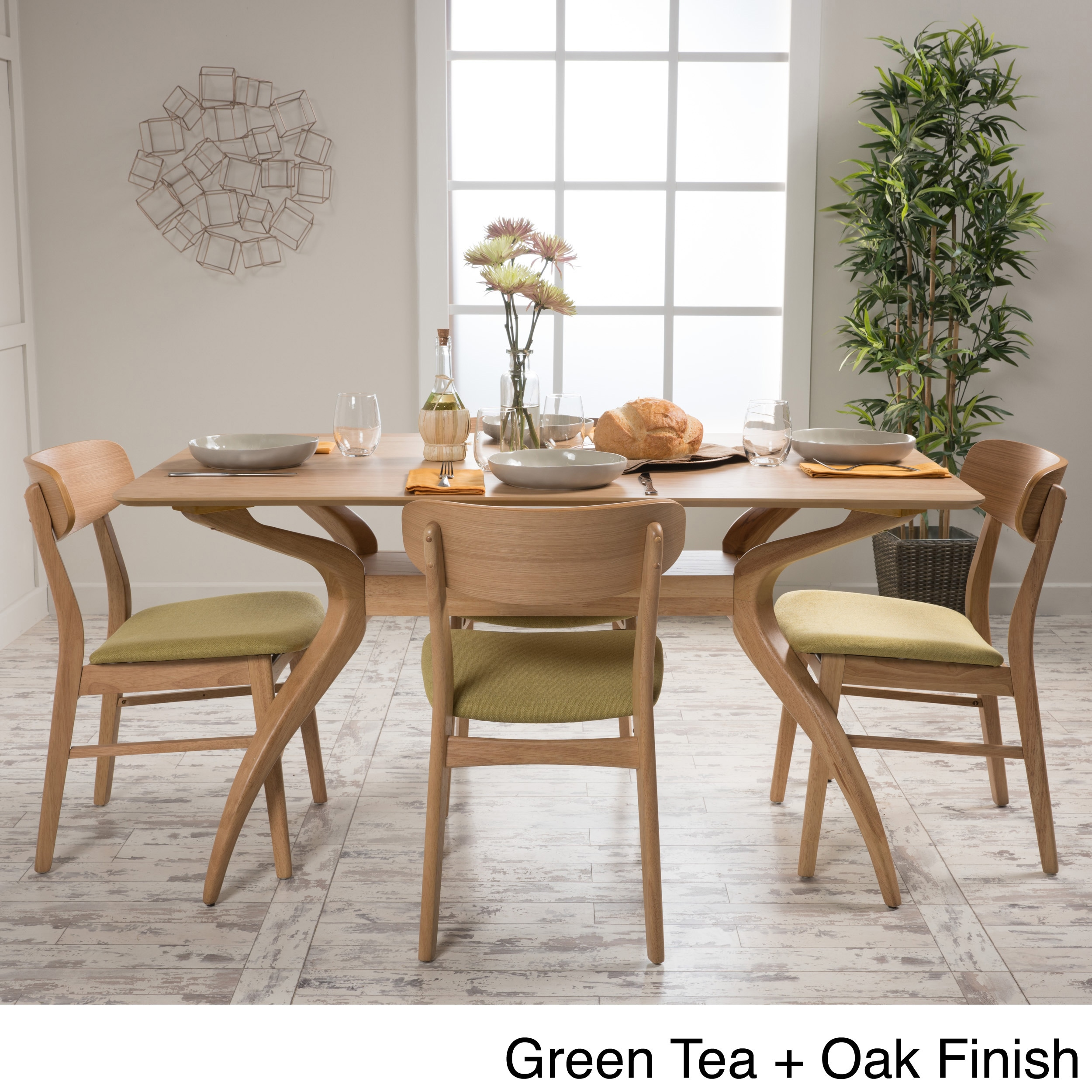 Lucious 5 Piece Rectangular Dining Set By Christopher Knight Home