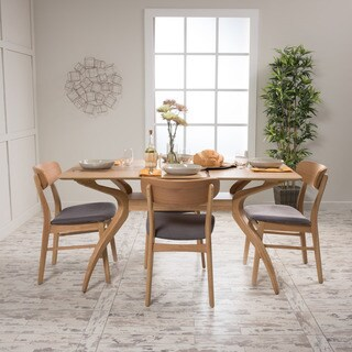 Lucious 5-piece Rectangular Dining Set by Christopher Knight Home