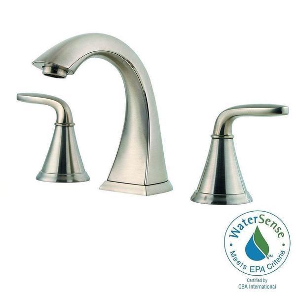 pasadena 8 in widespread 2 handle bathroom faucet in brushed nickel