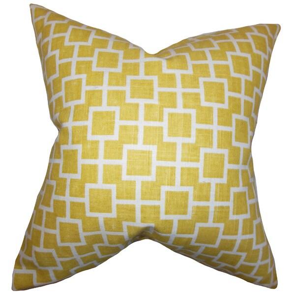 Janka Geometric Euro Sham Yellow