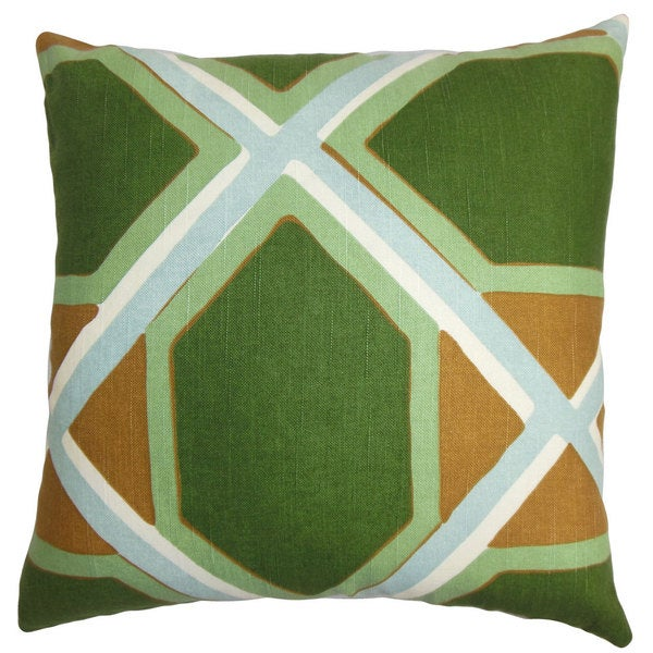 Quigley Geometric Euro Sham Green Orange