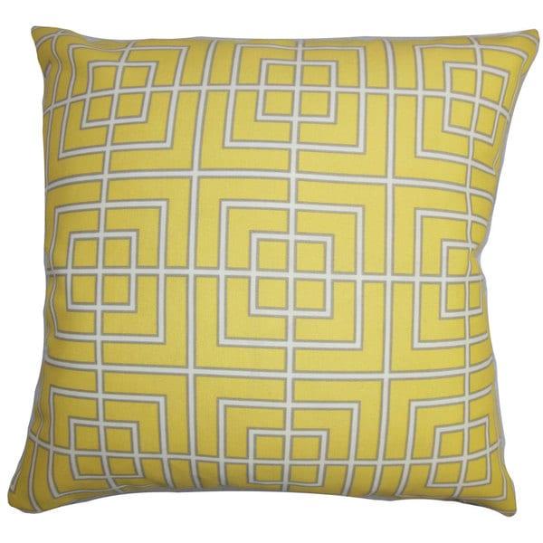Sanaa Geometric Outdoor Euro Sham Yellow