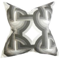 Rineke Geometric Euro Sham Gray White