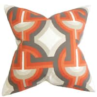 Rineke Geometric Euro Sham Orange