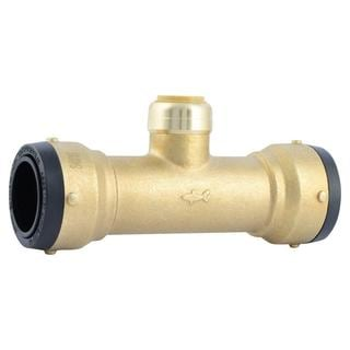 SharkBite 1-1/4 in. X 1-1/4 in. X 3/4 in. Brass Push-to-Connect Reducer Tee