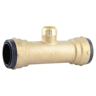 SharkBite 1-1/2 in. X 1-1/2 in. X 3/4 in. Brass Push-to-Connect Reducer Tee