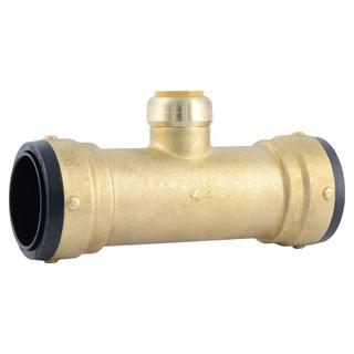 SharkBite 2 in. X 2 in. X 1 in. Brass Push-to-Connect Reducer Tee