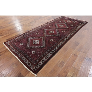 Oriental Persian Balouch Multicolor Wool Hand-knotted Rug (4'2 x 9'10)
