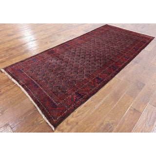 Persian Multicolor Wool Hand-knotted Oriental Area Rug (4'2 x 8'10)
