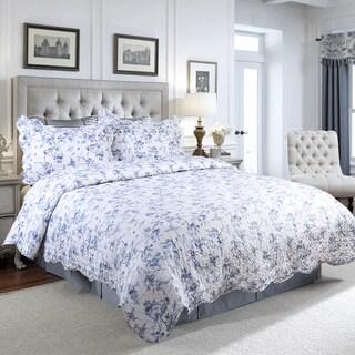 Bedsure Flourish Floral English Garden Quilt Set with Pillow Sham