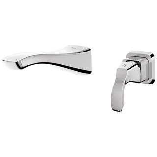 Delta Tesla Wall Mount 1-Handle Bathroom Faucet Trim Kit in Chrome (Valve Not Included)