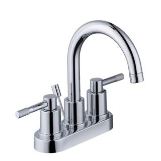 Schon Axel 4 in. Centerset 2-Handle High-Arc Bathroom Faucet with Pop-Up Assembly in Chrome